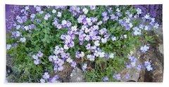 Purple Flower Textured Photo 1028b Bath Towel