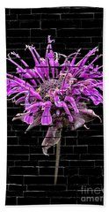 Purple Flower Under Bricks Bath Towel