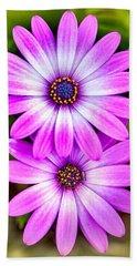Purple Flowers Hand Towel