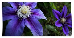 Hand Towel featuring the photograph Purple Flowers by Brian Jones