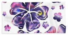 Purple Flowers Dance Bath Towel