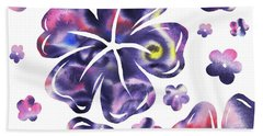 Purple Flowers Dance Hand Towel