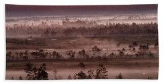 Purple Fog On Swamp Hand Towel
