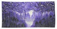 Purple Forest Bath Towel