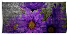 Purple Gerber Daisies Bath Towel