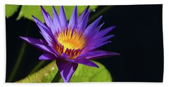 Bath Towel featuring the photograph Purple Gold by Steve Stuller