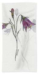 Purple Harebell Bath Towel