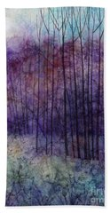 Bath Towel featuring the painting Purple Haze by Hailey E Herrera
