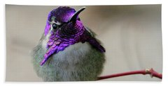 Purple Head Bath Towel by Shoal Hollingsworth