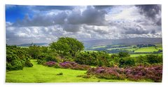 Purple Heather On Exmoor, Uk Hand Towel
