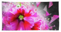 Bath Towel featuring the photograph Purple Hocks Giverny by Jack Torcello