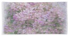 Purple Hydrangeas Hand Towel