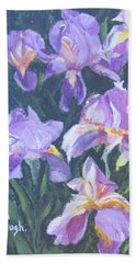 Purple Iris Bath Towel