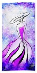 Purple Lady Charm Hand Towel
