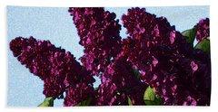 Purple Lilac 3 Bath Towel