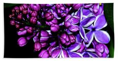 Purple Lilac Hand Towel