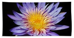 Purple Lotus Bath Towel