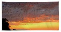 Purple Martin Sunset On Lake Murray Sc Hand Towel
