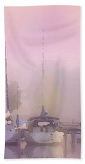 Purple Marina Morning Bath Towel