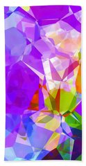 Purple Mix Abstract Hand Towel