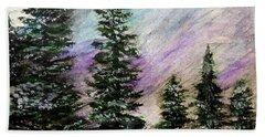 Purple Mountain Majesty Bath Towel by Scott D Van Osdol