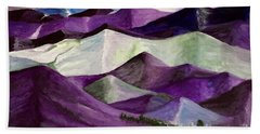 Bath Towel featuring the painting Purple Mountains Majesty by Kim Nelson