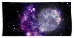 Purple Nebula Bath Towel