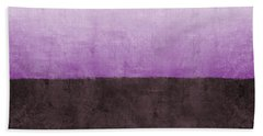 Purple On The Horizon- Art By Linda Woods Bath Towel