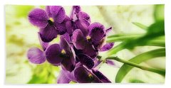 Purple Orchid Bath Towel