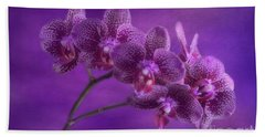 Purple Orchids Bath Towel