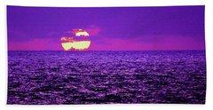 Purple Pacific With Sandstone Texture Bath Towel