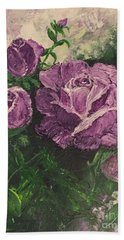 Purple Passion Bath Towel by Lucia Grilletto