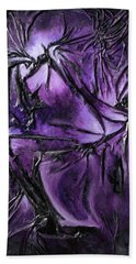 Bath Towel featuring the mixed media Purple Pedals by Angela Stout