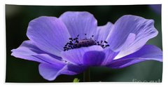 Purple Poppy Mona Lisa Bath Towel