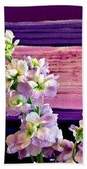 Bath Towel featuring the photograph Purple Purple Everywhere by Marsha Heiken