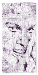 Purple Rain By Prince Hand Towel