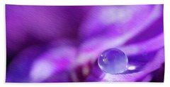 Purple Rain Drop Bath Towel