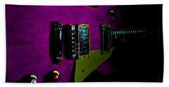Purple Relic Les Paul II Hover Series Bath Towel