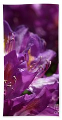 Purple Rhododendron Hand Towel by Stephen Melia