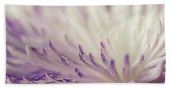 Purple Spider Mum Macro Hand Towel