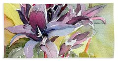 Purple Stem Aster Hand Towel
