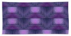 Purple Sun Deco Hand Towel by Patricia Strand