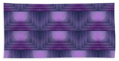 Purple Sun Deco Bath Towel by Patricia Strand