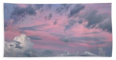 Purple Sunrise Hand Towel by Tim Fitzharris