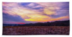 Hand Towel featuring the photograph Purple Sunset At Retzer Nature Center by Jennifer Rondinelli Reilly - Fine Art Photography
