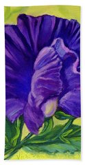 Purple Sweet Pea Bath Towel