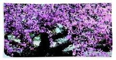 Purple Tree Bath Towel