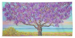 Purple Tree Hand Towel