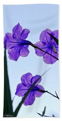 Purple Trio Hand Towel