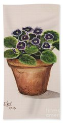 Purple Violets Hand Towel